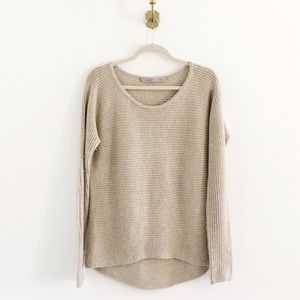Athleta Huntly Ribbed Wool Hi Lo Sweater